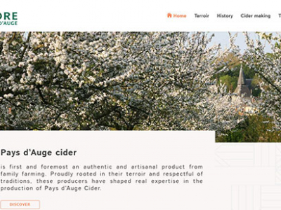 New digital and social environments for Pays d'Auge cider and Domfront perry.